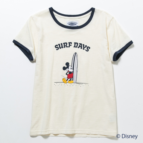 BILLABONG レディース【SURF MICKEY】SURF DAYS リンガーTシャツ001.jpg