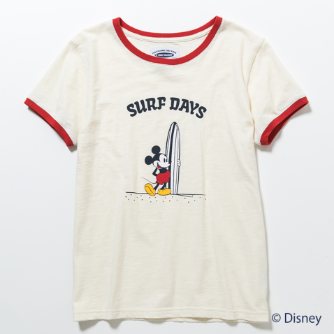 BILLABONG レディース【SURF MICKEY】SURF DAYS リンガーTシャツ002.jpg