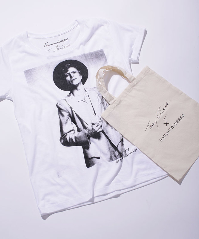 ナノ・ユニバース NU別注David Bowie Tee.jpg
