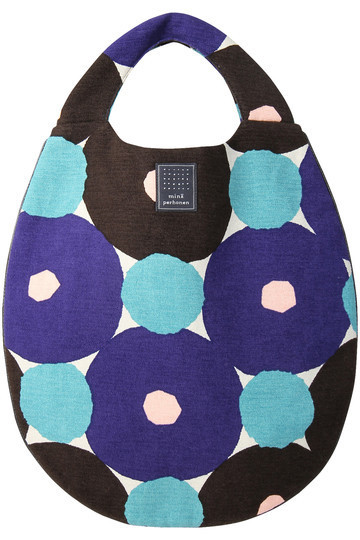 mina perhonen ミナ ペルホネン forest ring egg bag ブルー.jpg